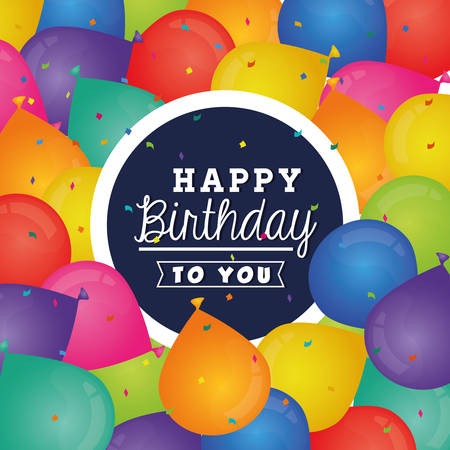 wish of happy holidays: Happy birthday colorful card design