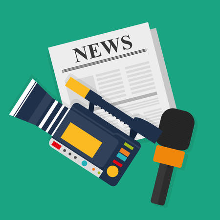 broadcasting: News media and broadcasting design, vector illustration graphic