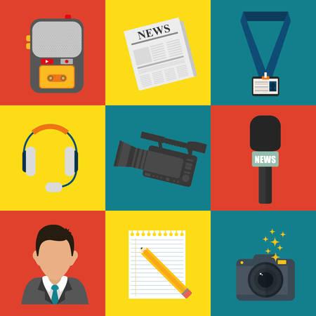 news media: News media and broadcasting design, vector illustration graphic