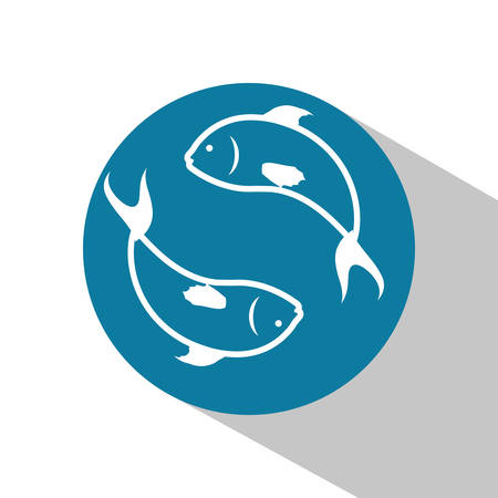 submerged: Sea life concept with fish design Illustration