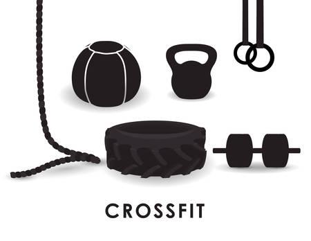 Fitness-Konzept mit Fitnessraum icons Design