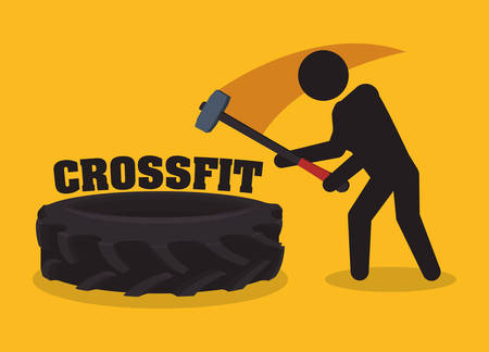 Fitness concept with gym icons design