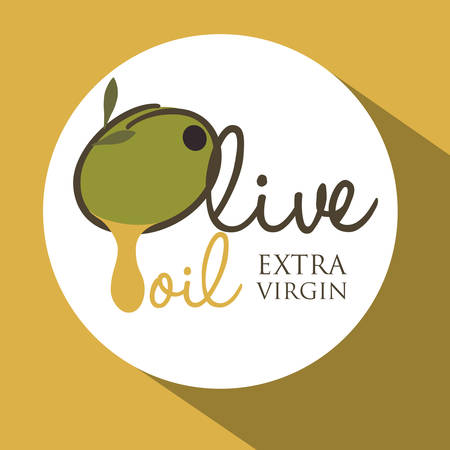 vitamines: Olive oil concept with organic product design