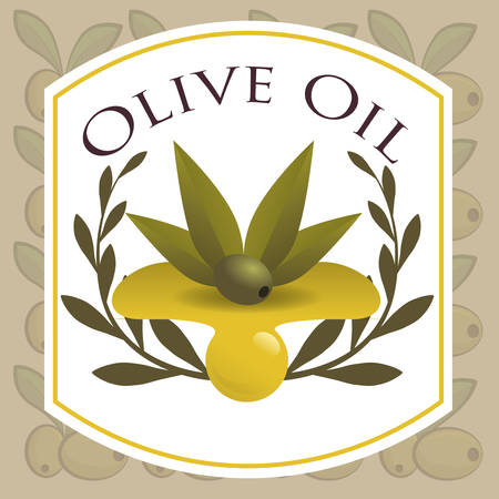 cooking oil: Olive oil concept with organic product design