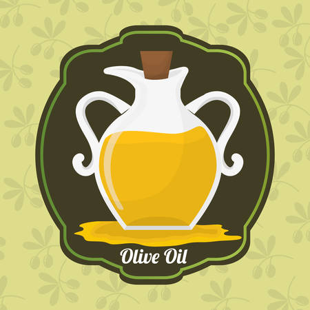 alimentation: Olive oil concept with organic product design