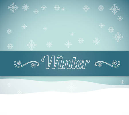 christmas scene: Winter concept with season icons design, vector illustration 10 eps graphic.