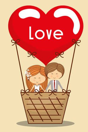 hot couple: Love concept with cute icons design, vector illustration 10 eps graphic.