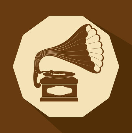 gramaphone: music concept about sound  icons design, vector illustration graphic.