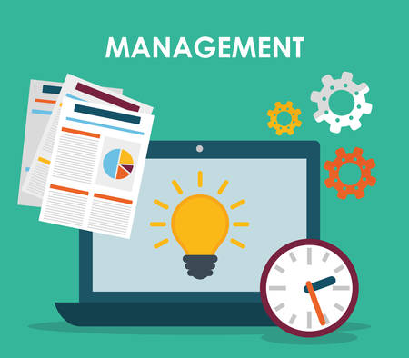 Business management graphic design, vector illustration eps01