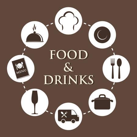 gastronomy: Gastronomy and restaurant graphic design, vector illustration eps10
