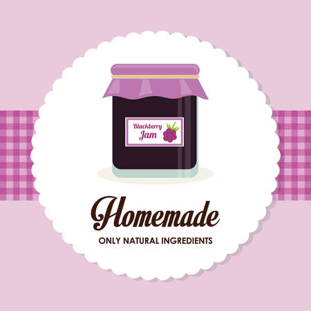 home products: Homemade dessert graphic design, vector illustration eps10