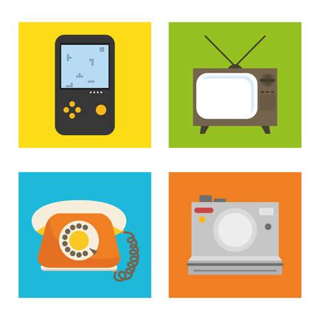 electronic components: Digital era technology graphic design, vector illustration Illustration