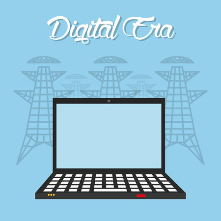 an era: Digital era technology graphic design, vector illustration Illustration