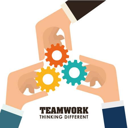 Business teamwork and leadership graphic design, vector illustration   Ilustração