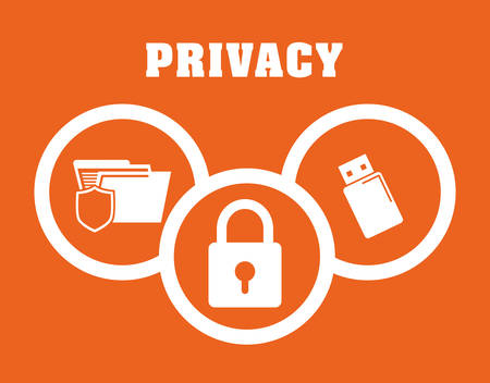 lock block: Privacy and security system graphic icons design, vector illustration Illustration