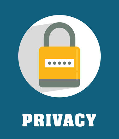 protect safety: Privacy and security system graphic icons design, vector illustration Illustration