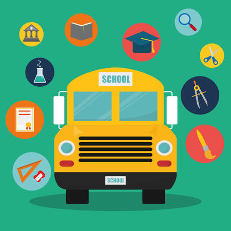 school class: Back to school graphic design icons, vector illustration   Illustration