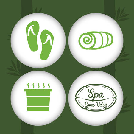 pampering: Spa concept and multimedia icons design, vector illustration 10 eps graphic.