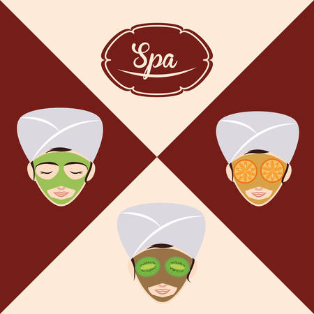 luxury hotel room: Spa concept and multimedia icons design, vector illustration 10 eps graphic.