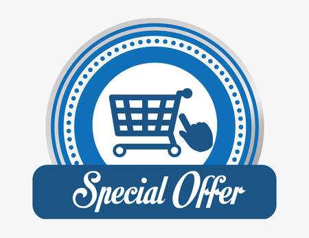 special sale: Special offer concept and shopping icons design, vector illustration 10 eps graphic.