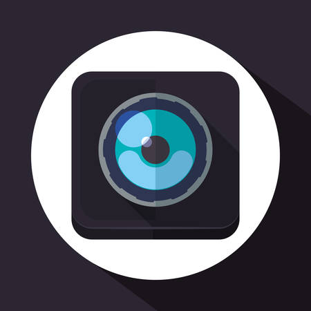 digicam: Camera concept and technology icons design, vector illustration 10 eps graphic. Illustration