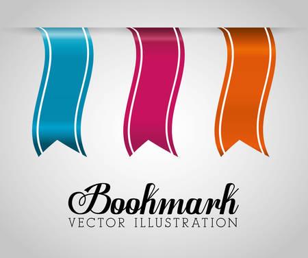 read magazine: Bookmark icons graphic design, vector illustration eps10 Illustration
