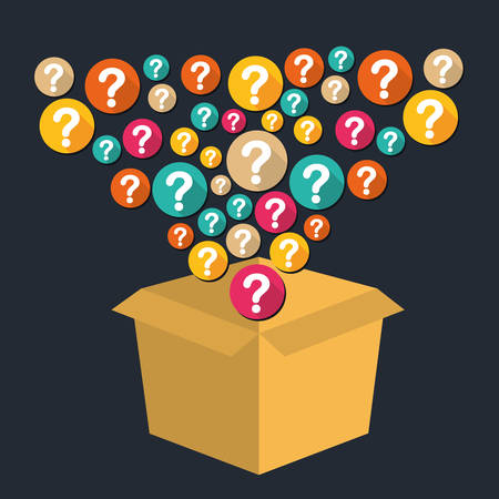Question mark and solutions graphic design, vector illustration eps10