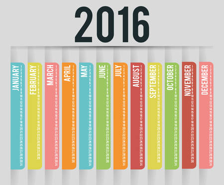 New year calendar schedule graphic design, vector illustration eps 10 Illustration