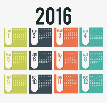 event: New year calendar schedule graphic design, vector illustration eps 10 Illustration