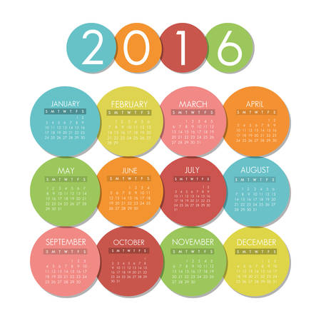 calendar icons: New year calendar schedule graphic design, vector illustration eps 10 Illustration