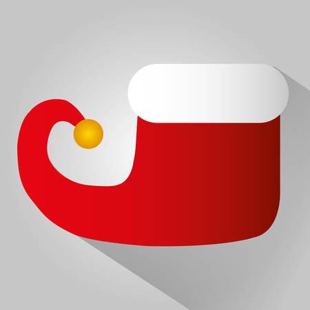 duendes de navidad: colorido icono del diseño gráfico de la Feliz Navidad, ilustración vectorial Vectores