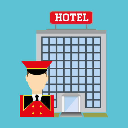 suite: Hotel services and travel graphic design, vector illustration eps10