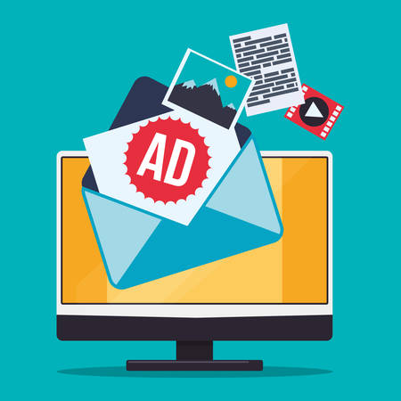 Digital marketing and advertising graphic design, vector illustration