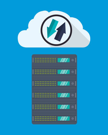 web hosting: Web hosting and cloud computing icon graphic design, vector illustration