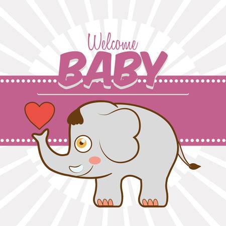 invite congratulate: Baby shower invitation card graphic design, vector illustration Illustration