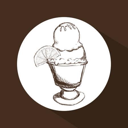 frozen treat: Dessert concept with  design, vector illustration