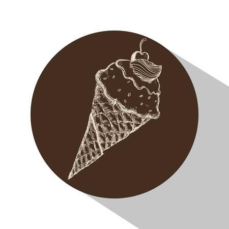 creme: Dessert concept with  design, vector illustration
