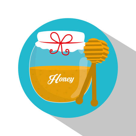 nectar: Honey concept and jar design, vector illustration