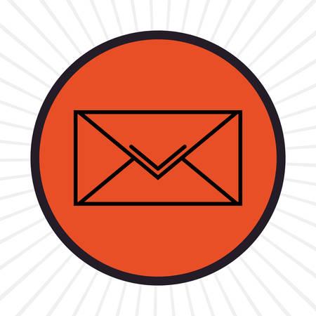 inline: Email inline icon graphic design, vector illustration Illustration