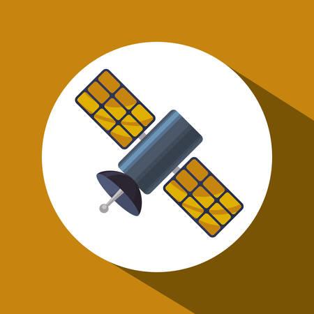 world receiver: satellite concept over circle design, vector illustration 10 eps graphic.