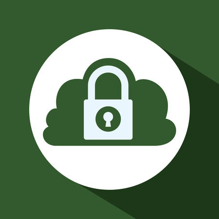 dangerous ideas: data security concept with system icons design, vector illustration 10 eps graphic. Illustration