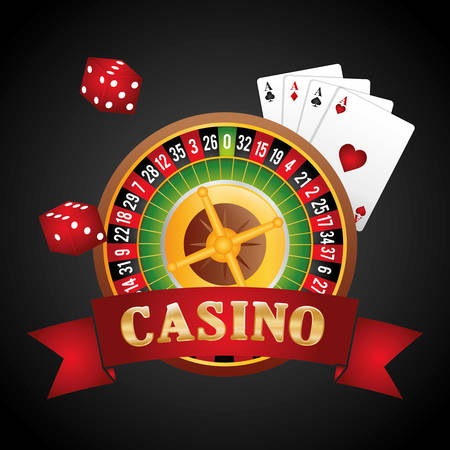 wining: Casino gambling game graphic design, vector illustration