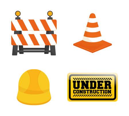 Under construction barrier design, vector illustration
