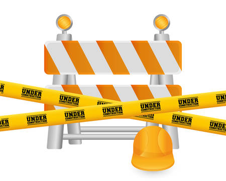 construction barrier: Under construction barrier design, vector illustration  Illustration