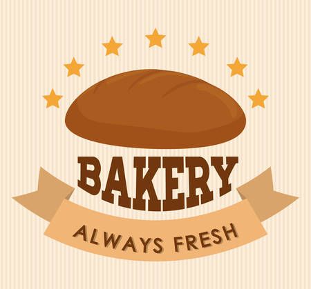 advert: Bakery shop advert graphic design, vector illustration