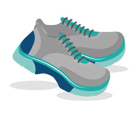blue shoes: Sport blue shoes graphic design, vector illustration  Illustration