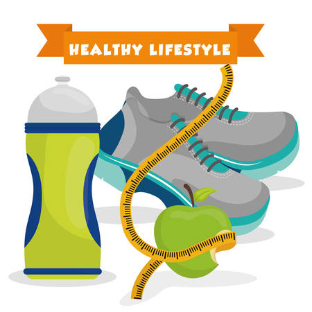 jogging in nature: Fitness and healthy lifestyle graphic design, vector illustration