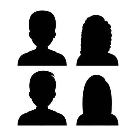 silueta humana: Perfil de las personas de dise�o, ejemplo gr�fico del vector