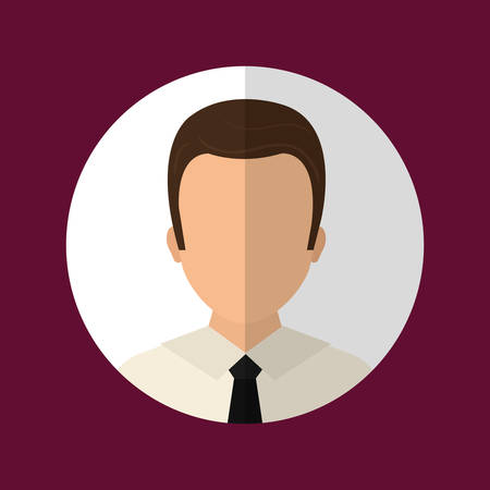 male face: People profile graphic design, vector illustration   Illustration