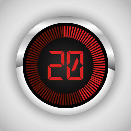 twenty second: Codes and digits icons graphic design, vector illustration